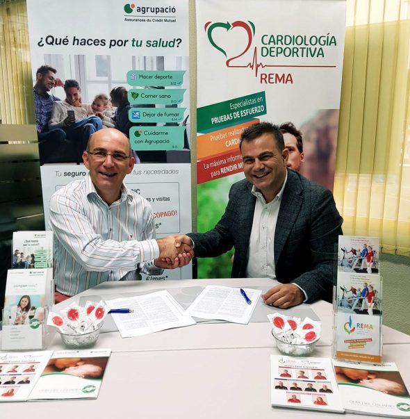 Imagen: Convenio de colaboración entre REMA (Rehabilitación Marina Alta) y la aseguradora Agrupació