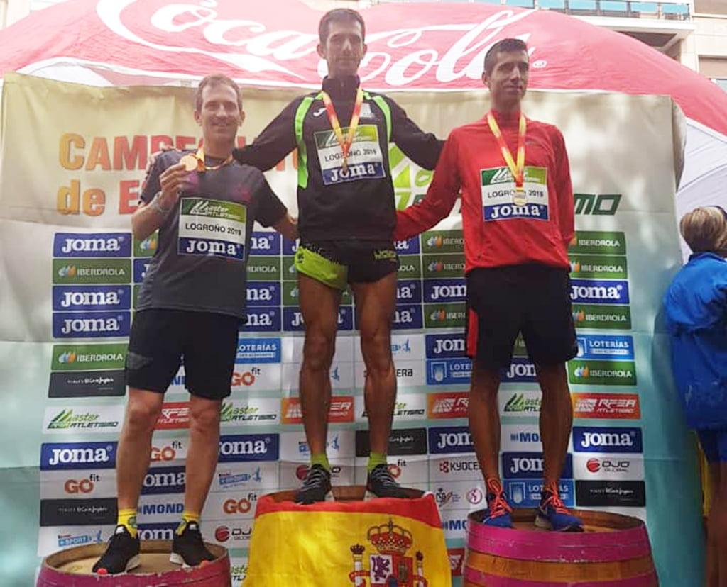 García Barragán en el podio de Logroño
