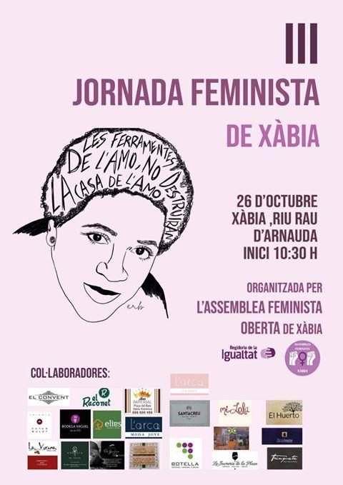 Imatge: III Jornada Feminista a Xàbia