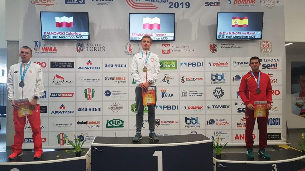 José Manuel García en el podio