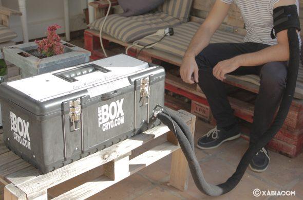Bild: Der 'Box Cryo' kühlt den von einer Verletzung betroffenen Bereich und hilft so bei seiner schnellen Genesung