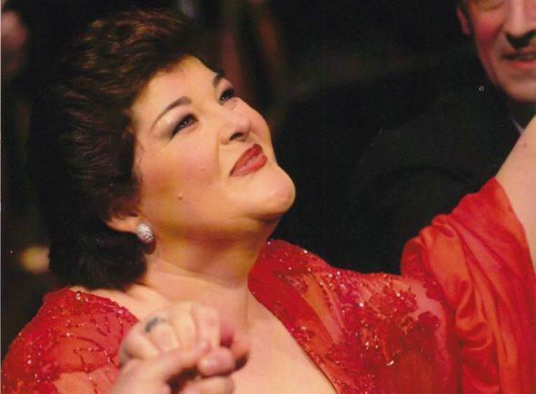 Imagen: La soprano en una actuación