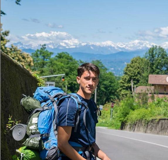 Imatge: Lucas Muniz, veí de Xàbia que emprèn el viatge Xàbia-la Índia amb bicicleta