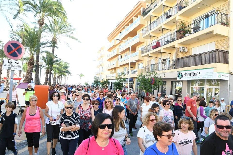 Més de mil persones van participar en la Marxa per la Vida de Xàbia