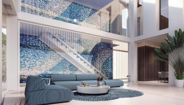 Imagen: Mosaico central característico de un proyecto de viviendas de lujo en Dénia - Fine & Country Costa Blanca Norte