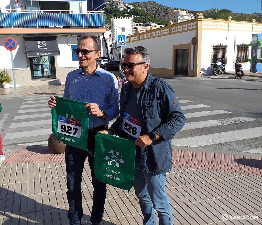 Pedro Duque i José Chulvi a la Marxa per la Vida