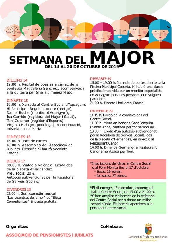 Imagen: Programación de la Semana del Mayor en Benitatxell