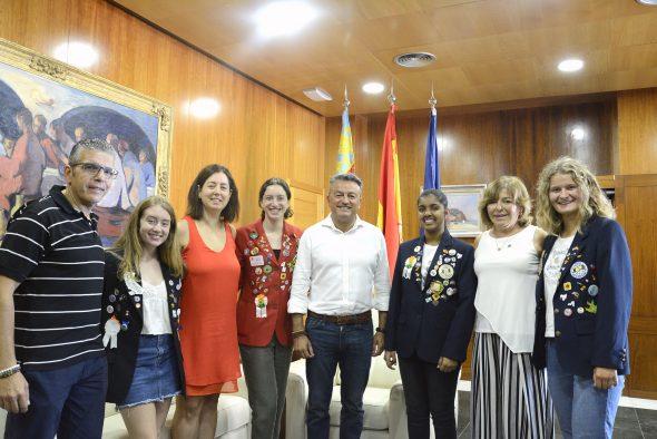 Imatge: Recepció d'estudiants del programa d'intercanvi del Rotary