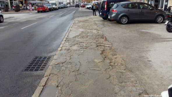 Imagem: Reconstrução das calçadas da Avenida Juan Carlos I