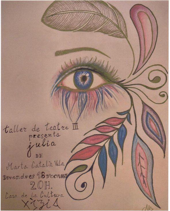 Afbeelding: theaterstuk 'Julia' uitgevoerd door de theaterstudenten van Xàbia