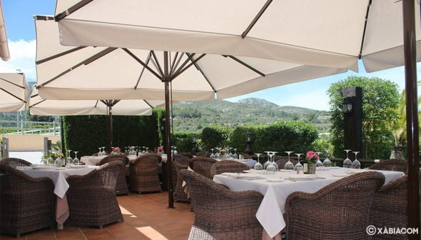 Imagen: Terraza del Restaurante Vall de Cavall