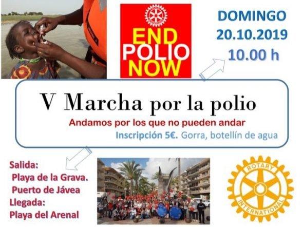 Imagen: V Marcha contra la polio de Xàbia