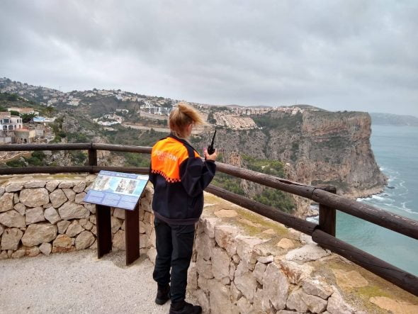 Imagen: Vigilancia de protección Civil Benitatxell