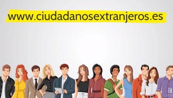 Imagen: Web ciudadanosextranjeros.es de la Diputación de Alicante para facilitar información integradora a los residentes extranjeros en la provincia