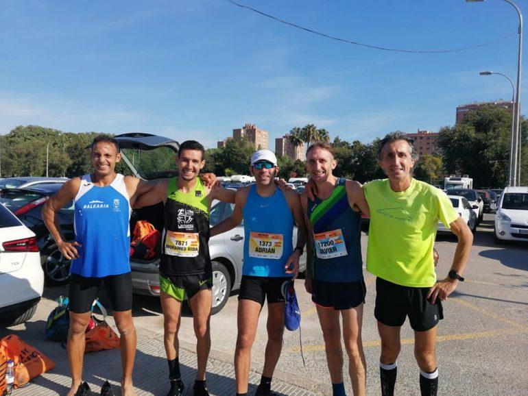 Youssef Ahatach, con Moha Rida y otros atletas