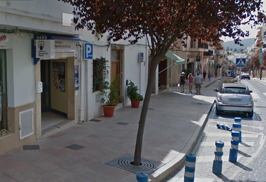 Administración de lotería nº2 de Xàbia que ha vendido el premio