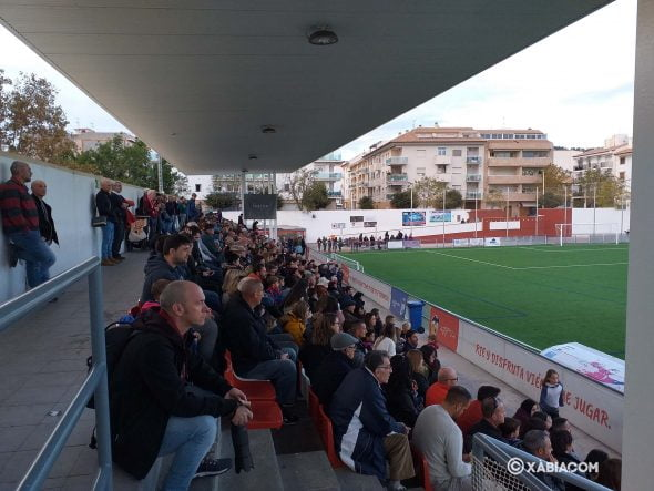Image: Fans in the stands during the CD Jávea-UD Carcaixent match