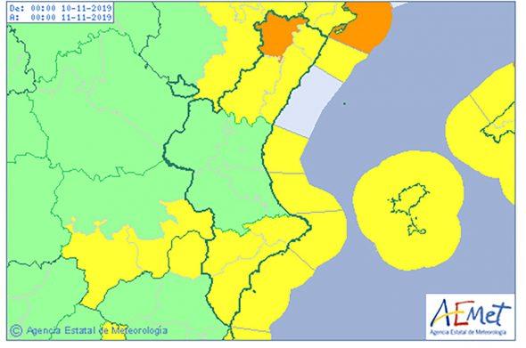 Imagen: Alerta amarilla para la jornada del domingo 10 de noviembre
