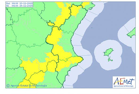 Imatge: Alerta groga per fort vent per al dimecres 13 de novembre
