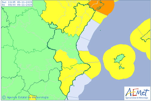 Bild: Gelber Alarm für Winde und Küstenphänomene