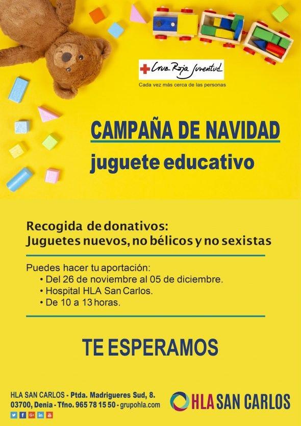 Imagen: Campaña de Navidad de HLA San Carlos para recoger juguetes educativos