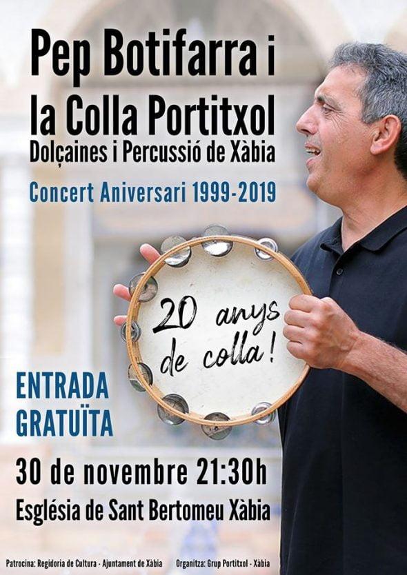 Imagen: Cartel concierto 20 años de la Colla del Portitxol