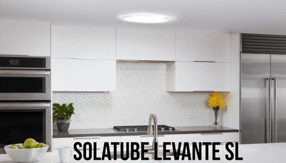 Imagen: Cocina doméstica después de iluminar con Solatube Levante