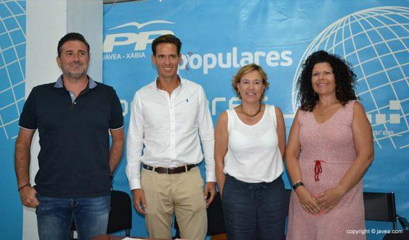 Concejales del PP Xàbia
