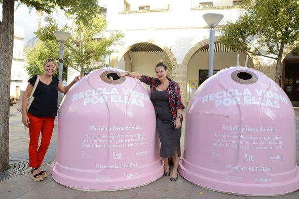 Imagen: Contenedores rosa en Xàbia