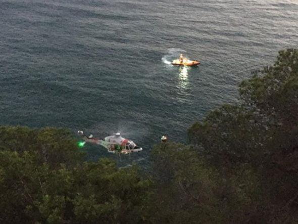 Imatge: En el moment del rescat
