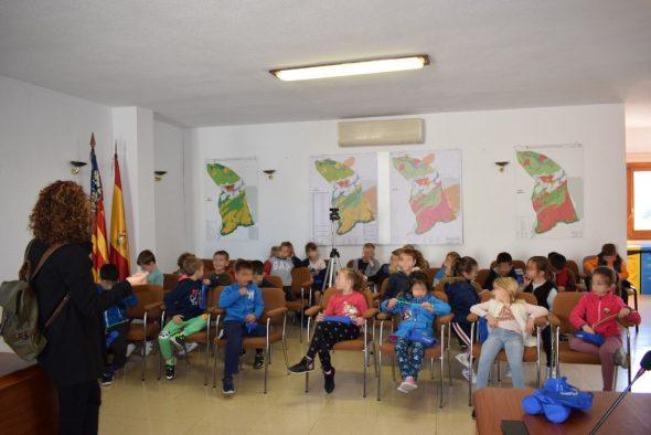 Bild: Schulkinder von Benitatxell im Rathaus