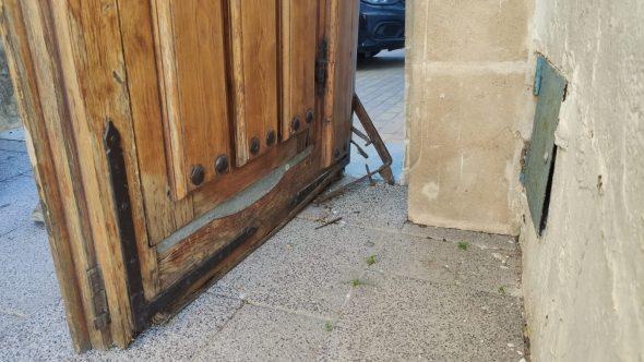 Imagen: Estado del Portalet antes de restaurar
