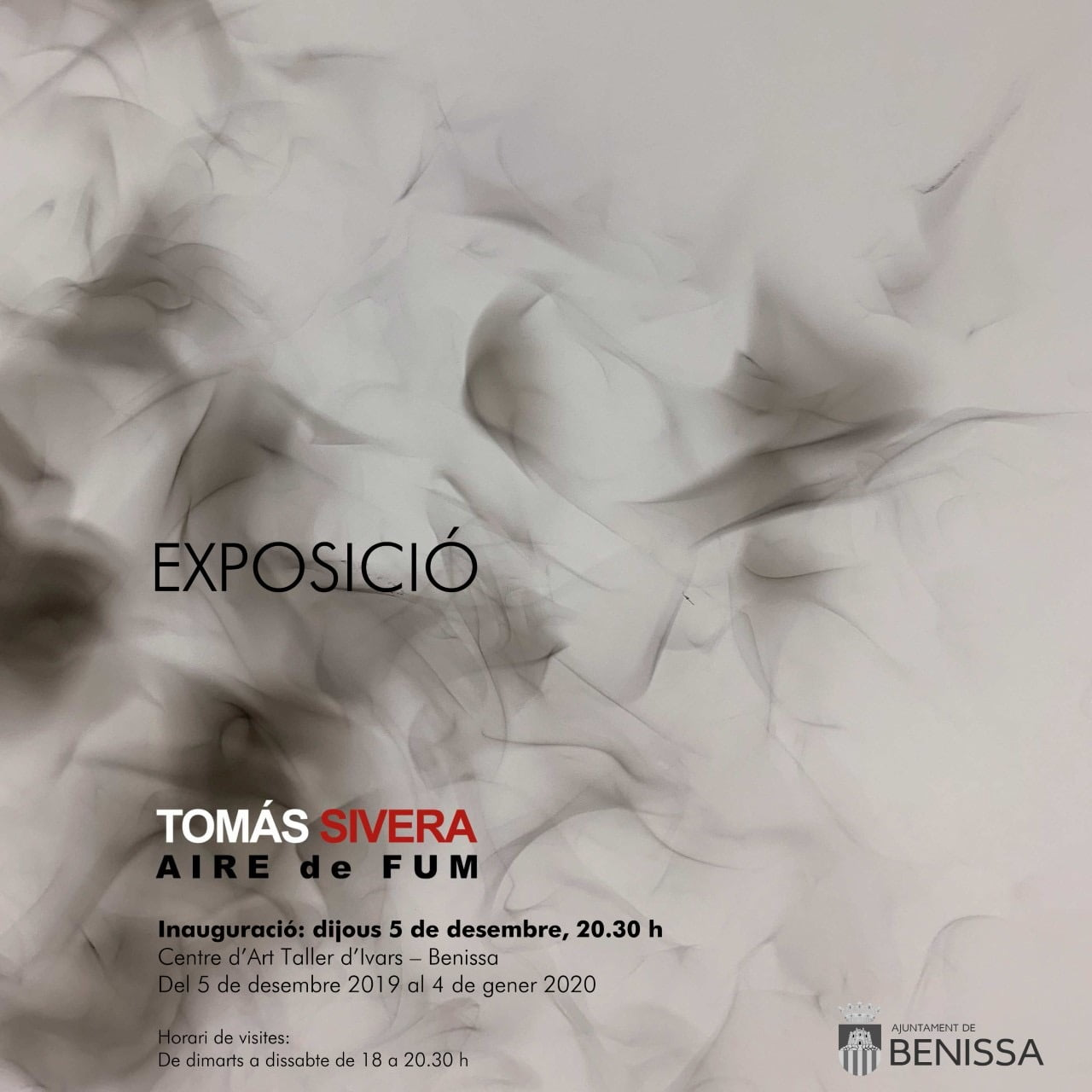 Invitation to the exhibition of Tomás Sivera in Benissa