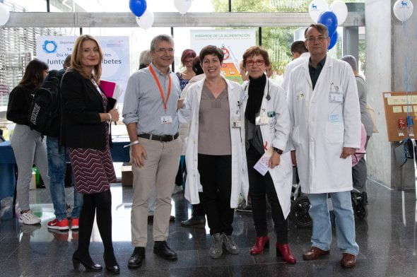 Imagen: Jornada contra la  diabetes en el Hospital de Dénia
