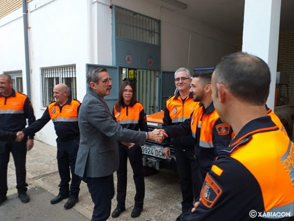 Image: José María Ángel visits the Civil Protection facilities of Xàbia