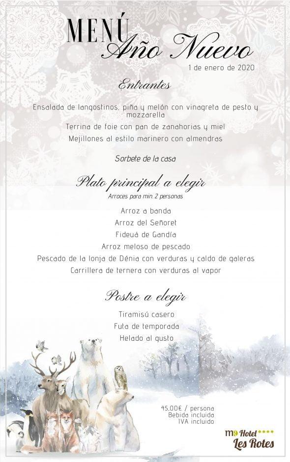 Imagen: Menú de Año Nuevo en el Hotel Les Rotes