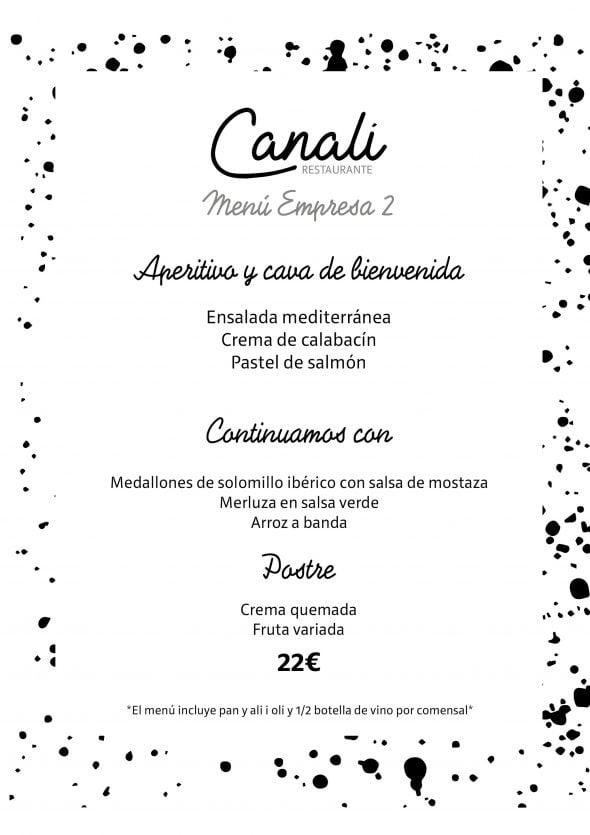 Imagen: Menú de empresa 2 - Restaurante Canali