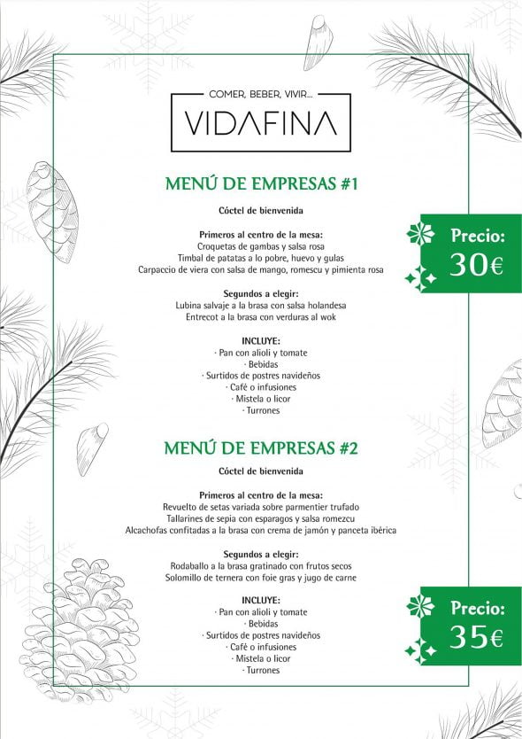 Image: Business menu - VidaFina