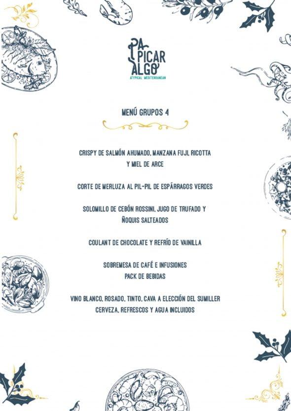 Imagen: Menú para empresas y grupos, opción 4 - Pa Picar Algo