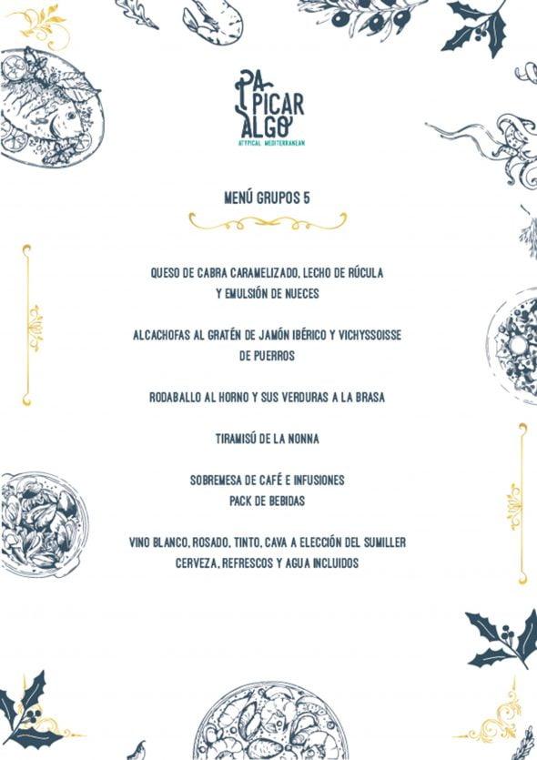 Imagen: Menú para empresas y grupos, opción 5 - Pa Picar Algo