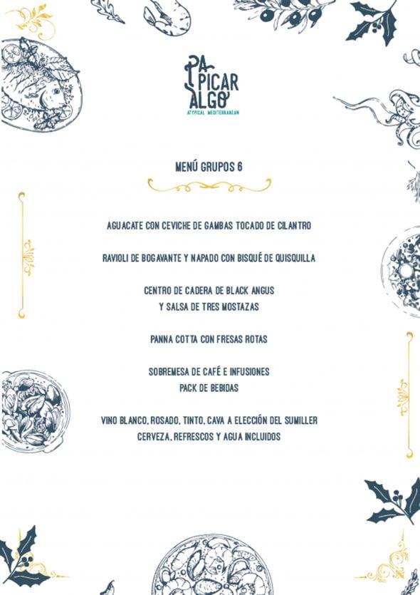 Imagen: Menú de empresas y grupos, opción 2 - Pa Picar Algo