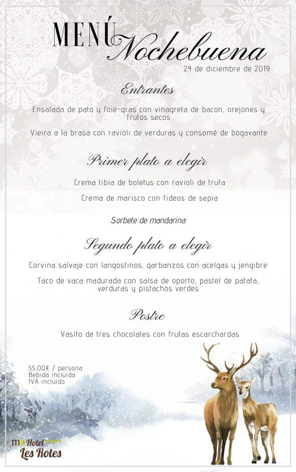 Imagen: Menú de Nochebuena en Hotel Les Rotes