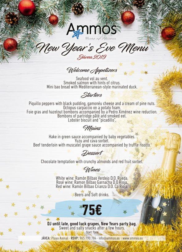 Image: New Year's Eve Menu in Jávea - Ammos Restaurant