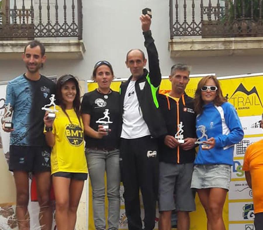 Nasio Cardona en el podio