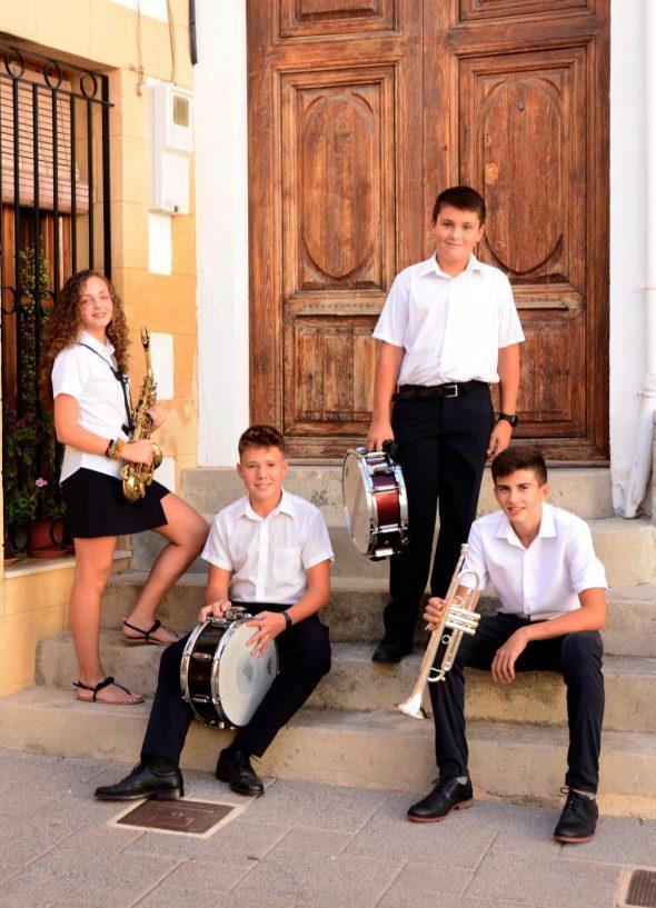 Imagen: Nuevas incorporaciones a la banda de música de Benitatxell