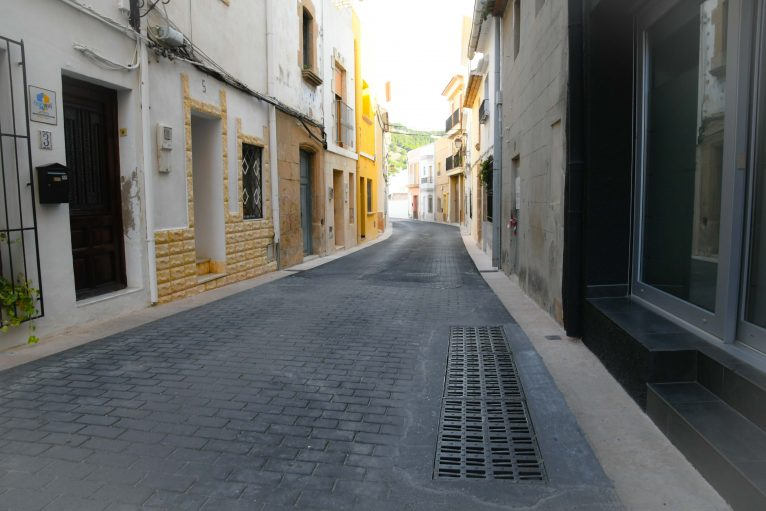 Obres finalitzades al carrer Calderón