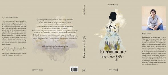 Image: Cover and back cover of 'Eternally in your eyes' by Martha Lovera