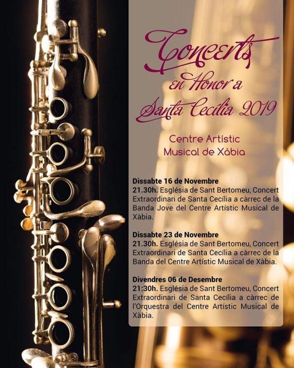 Imatge: Programació Concerts en honor a Santa Cecília