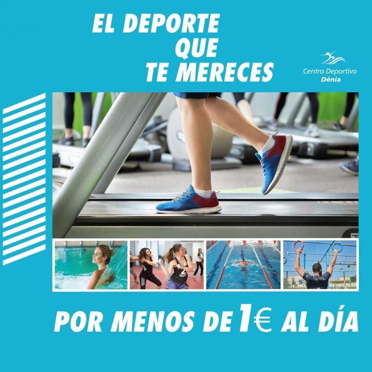 Promoción por menos de 1€ al día - Centro Deportivo Dénia