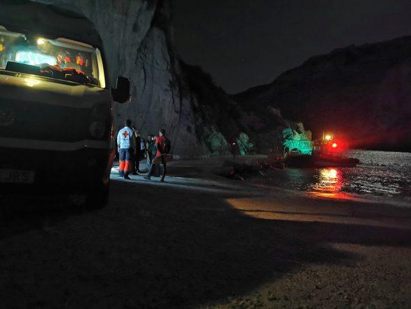 Imatge: Rescat de les persones atrapades a la Cova del llop Marí